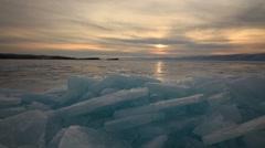 Winter on Lake Baikal. Olkhon Island, Russia, Siberia Stock Footage