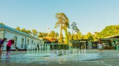 Fountain near Dzintari Hall, Jurmala , Latvia Stock Footage