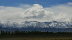 New Zealand view of Alps with clouds Stock Footage