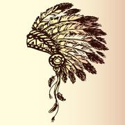 Native american indian chief headdress Stock Illustration