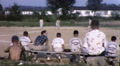 Boys Wait Backbench to Play BASEBALL Game Team Vintage Film Home Movie 9871 Footage