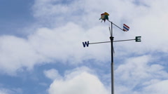 Wind direction or Weather vane with North South East West sign or symbol Stock Footage