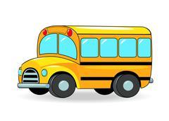 School bus - stock illustration