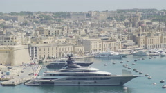 Yacht in Marina in Old city Stock Footage