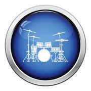 Drum set icon Stock Illustration