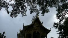 The architecture of buddhism temple in Thailand Stock Footage