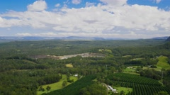 A view across the Glass House Mountains National Park, Brisbane, Australia Stock Footage