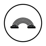 Rainbow icon - stock illustration