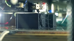 Affordable DIY 3d printer in action, close up 4K shot Stock Footage