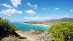 Chia Bay, Sardinia, Italy, Real Time, 4k Stock Footage