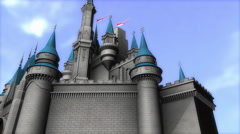 Fantasy magical castle Stock Footage