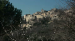 General view of Gordes, Provence, France, rack-focus Stock Footage