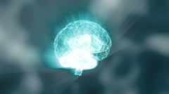 Holographic human brain rendering Stock Footage