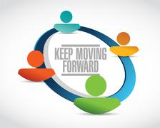 Keep moving forward network sign concept Stock Illustration