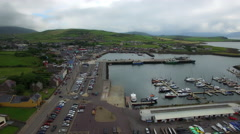 4k Aerial Shot of City Dingle in Ireland Stock Footage