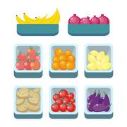 Grocery Store Assortment. Healthy Nutrition Stock Illustration