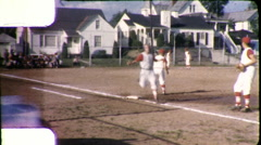 Boys Play BASEBALL Game American Team Sport 1960s Vintage Film Home Movie 9916 Stock Footage