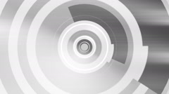 Black and white shapes loop Stock Footage