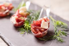Appetizer with meat Stock Photos