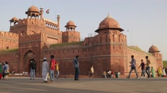 Indian tourists at Red fort,New Delhi,India Stock Footage