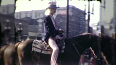 Uncle Sam 4th of July American USA Parade 1960s Vintage Film Home Movie 9922 Stock Footage