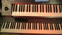 Music piano keybord recording studio Stock Footage