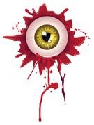 Halloween Bloody Eyeball - stock illustration