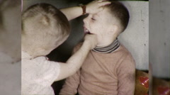 Little Boys Play Dentist Doctor Dental Exam 1960s Vintage Film Home Movie 9836 Stock Footage