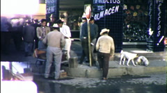 Mexicans Juarez Mexico Street Scene 1960s Vintage Film Home Movie 9854 Stock Footage