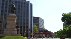The Portland Soldiers and Sailors Monument Stock Footage