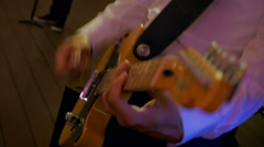 Music guitar playing at the party concert Stock Footage
