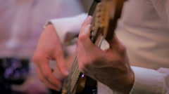 Lighting effects at the party music playing fingers Stock Footage