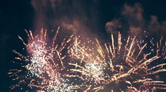 Multiple colorful fireworks Stock Footage