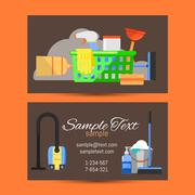 Business card of cleaning service Stock Illustration