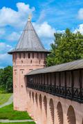 Monastery of Saint Euthymius Wall, Suzdal Stock Photos