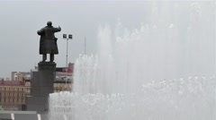 Monument to Lenin on the Finland railway station Stock Footage