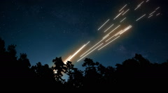 CG Anti-Aircraft Missiles Stock Footage