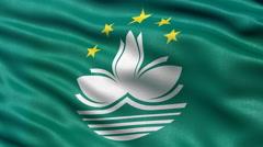 Macao flag seamless loop Stock Footage