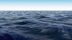 Blue Wavy Ocean Scene Stock Footage