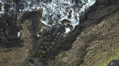 4k Aerial Shot of Giant's Causeway, Northern Ireland Stock Footage