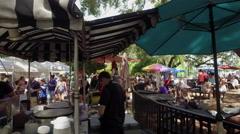 Busy Farmers Market, Orlando Stock Footage