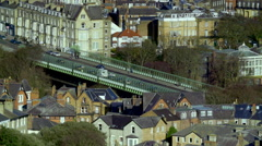 VALLEY BRIDGE VIEW FROM SCARBOROUGH NORTH Stock Footage