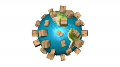 Global Shipment - Delivering Packages All Over The World Stock Footage