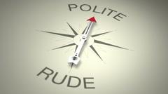 Polite Versus Rude Stock Footage