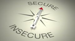 Secure Versus Insecure Stock Footage