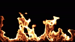 Realistic cg flames Stock Footage