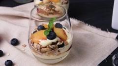 Cream and peach desert Stock Footage