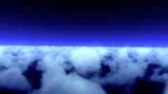 Flying over clouds in a thunderstorm Stock Footage