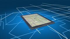 City Map On A Digital Tablet Computer Stock Footage