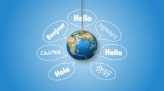 Saying Hello in Different Languages Stock Footage